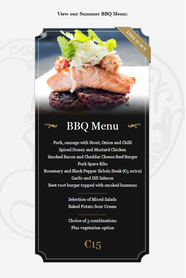 bbq-menu