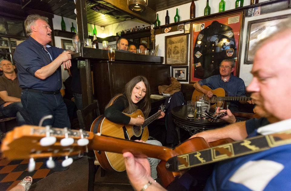 The snug bar at Durty Nellys Irish Pub Bunratty